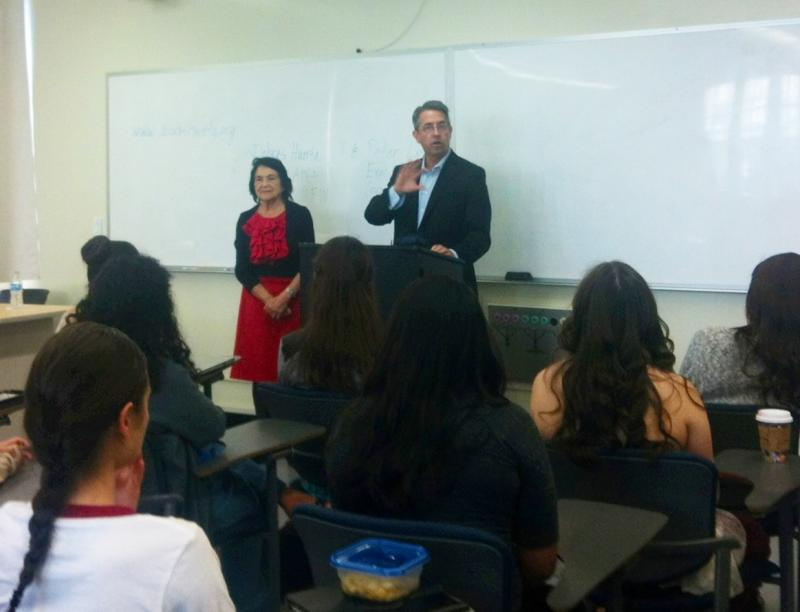 Peter Lee and Dolores Huerta spoke at Fresno State on Friday