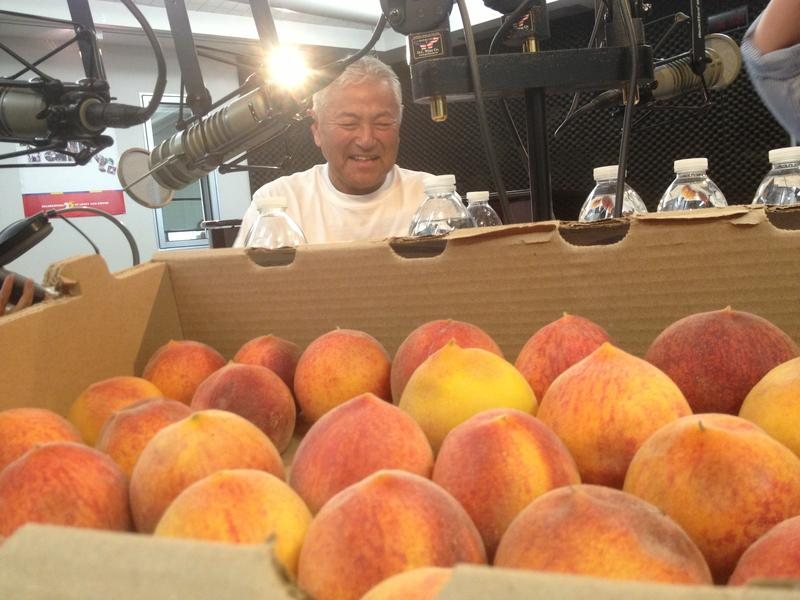 Farmer and writer David Mas Masumoto and his organic peaches