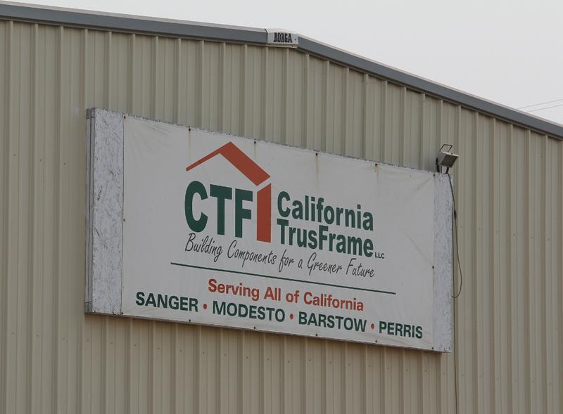 California TrusFrame's Sanger plant is building the walls for our new building in sections.