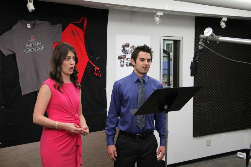 Soprano Maelyn De Fede and baritone Constantine Pappas