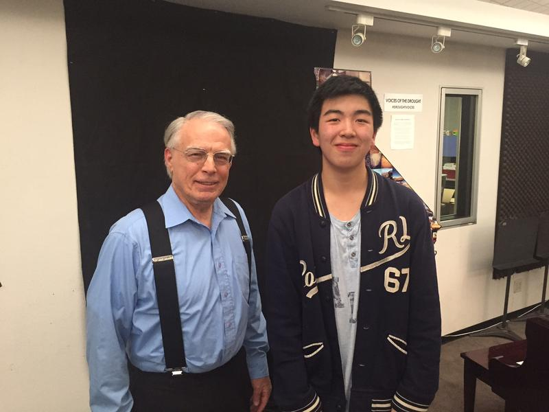 FM89's George Mason and pianist Phillip Teng