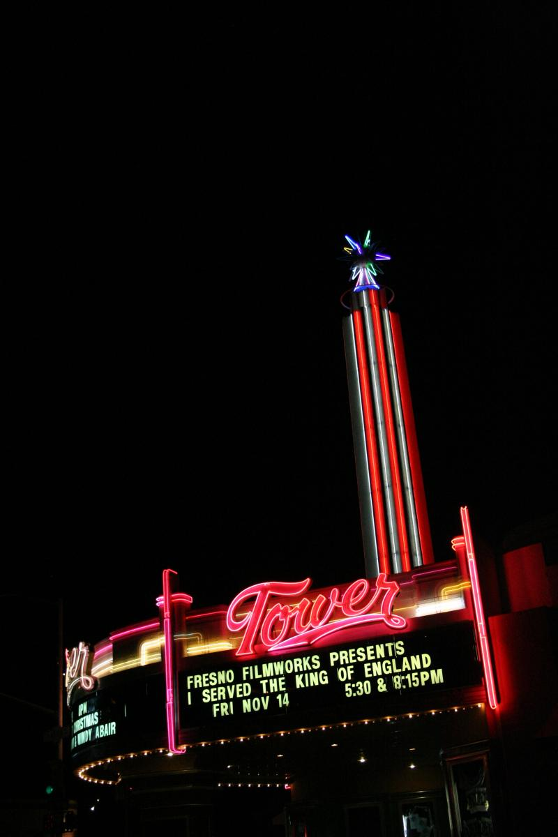 "The Tower Theatre might be Fresno's most popular ""Art Deco"" building, but it's actually an example of the related style known as Streamline Moderne, characterized by elegant curves. It was designed by noted architect S. Charles Lee and completed in 1939."