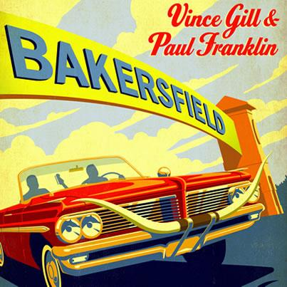 "Vince Gill and Paul Franklin celebrate the music of Buck Owens and Merle Haggard with their new cd ""Bakersfield"""