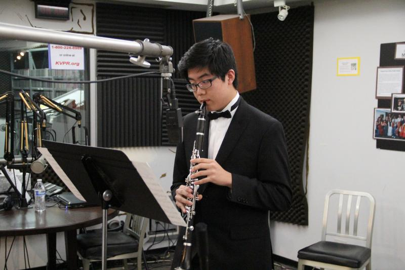 Clarinetist Michael Ko performs on FM89's Young Artists Spotlight
