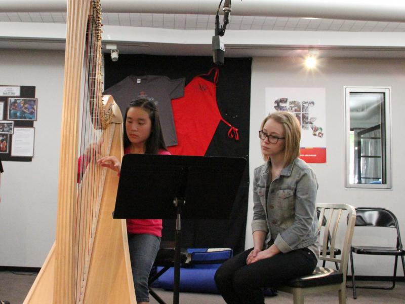 Harpist Erin Kim performs on Young Artists Spotlight