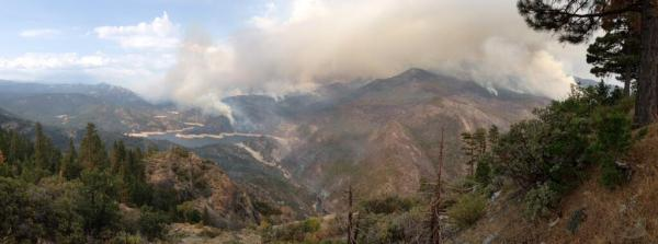 U.S. Forest Service fire behavior analyst John Smith captured this image of the Aspen Fire on Sunday morning.