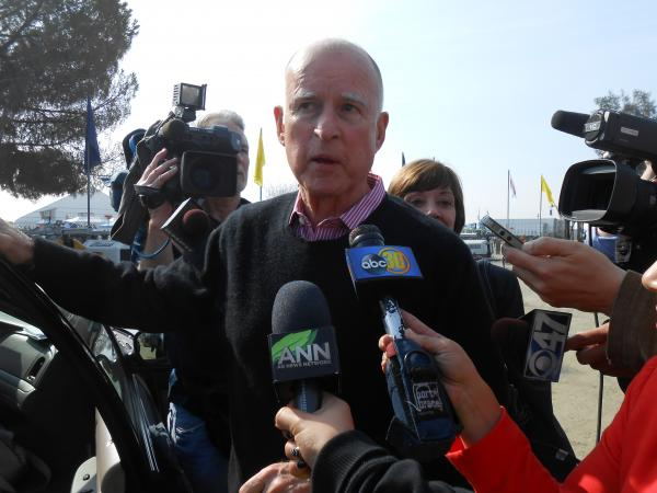 California Governor Jerry Brown visited the world ag expo in Tulare.