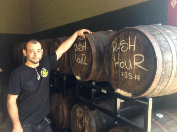 Morphew has also filled a select amount of Whiskey barrels to age beer in.