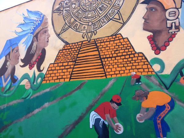 The coalition plans to help communities on the west side of the Valley to help communities like Mendota where this mural is painted.