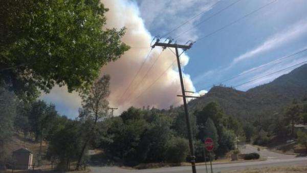 The Shirley Fire sparked Friday in the Sequoia National Forest, forcing hundreds of residents to evacuate.