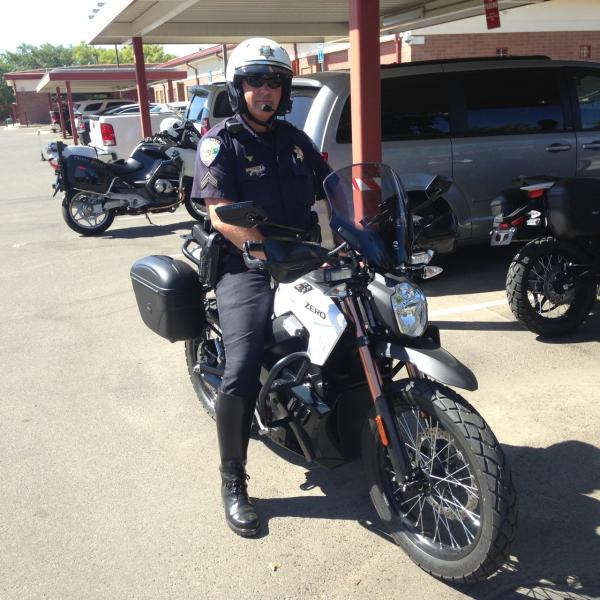 John Weaver is a traffic corporal for the Clovis Police Department. He and his fleet will begin to use the electric motorcycles as soon as Friday.