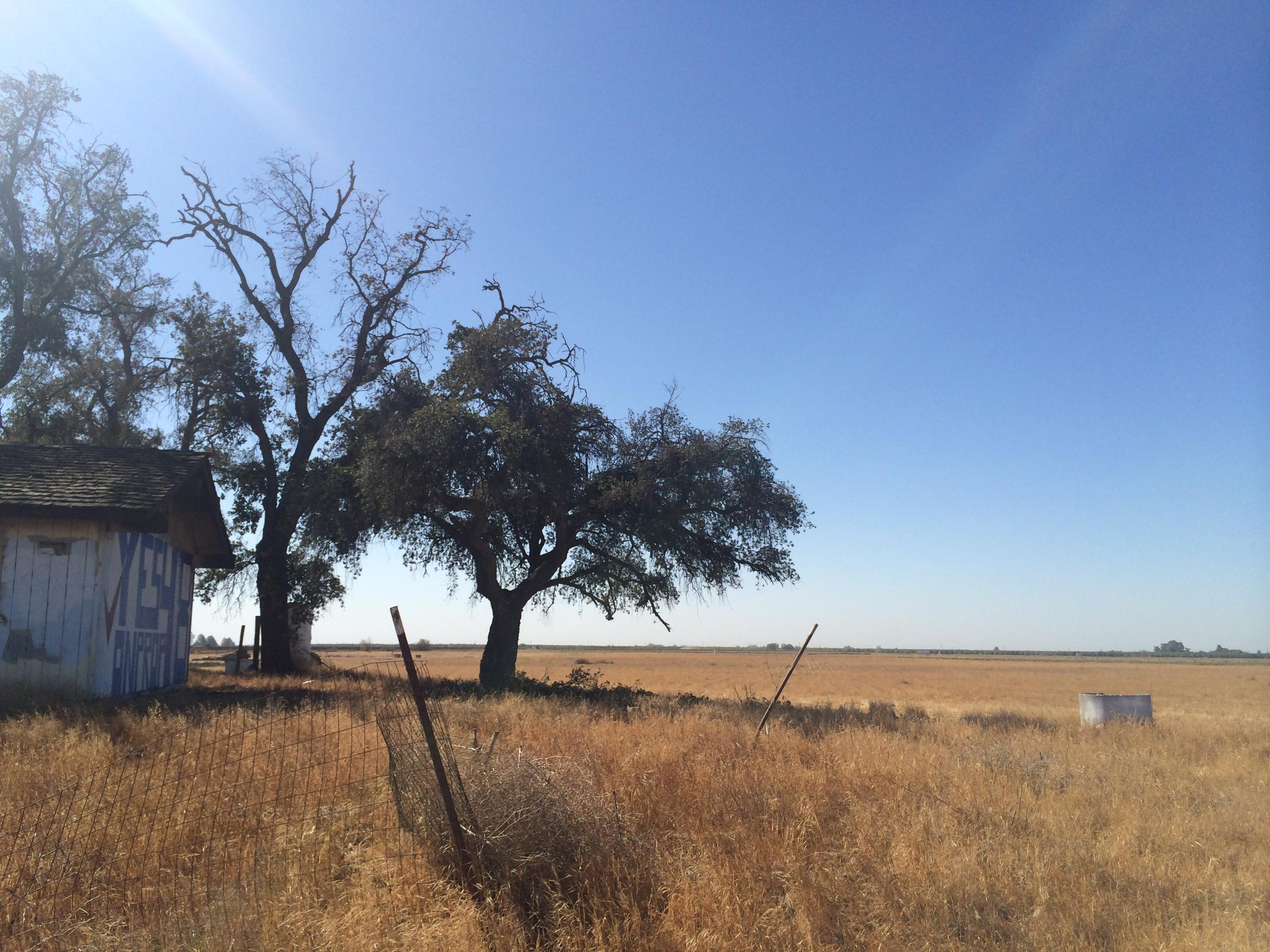 The Site Of Proposed Casino Along Highway 99 In Madera County