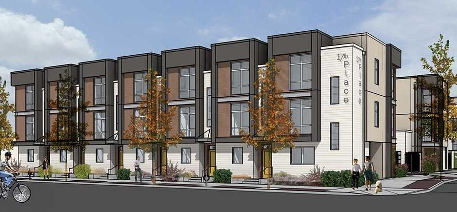 Luxury townhome development breaks ground in downtown for 3 story townhome plans