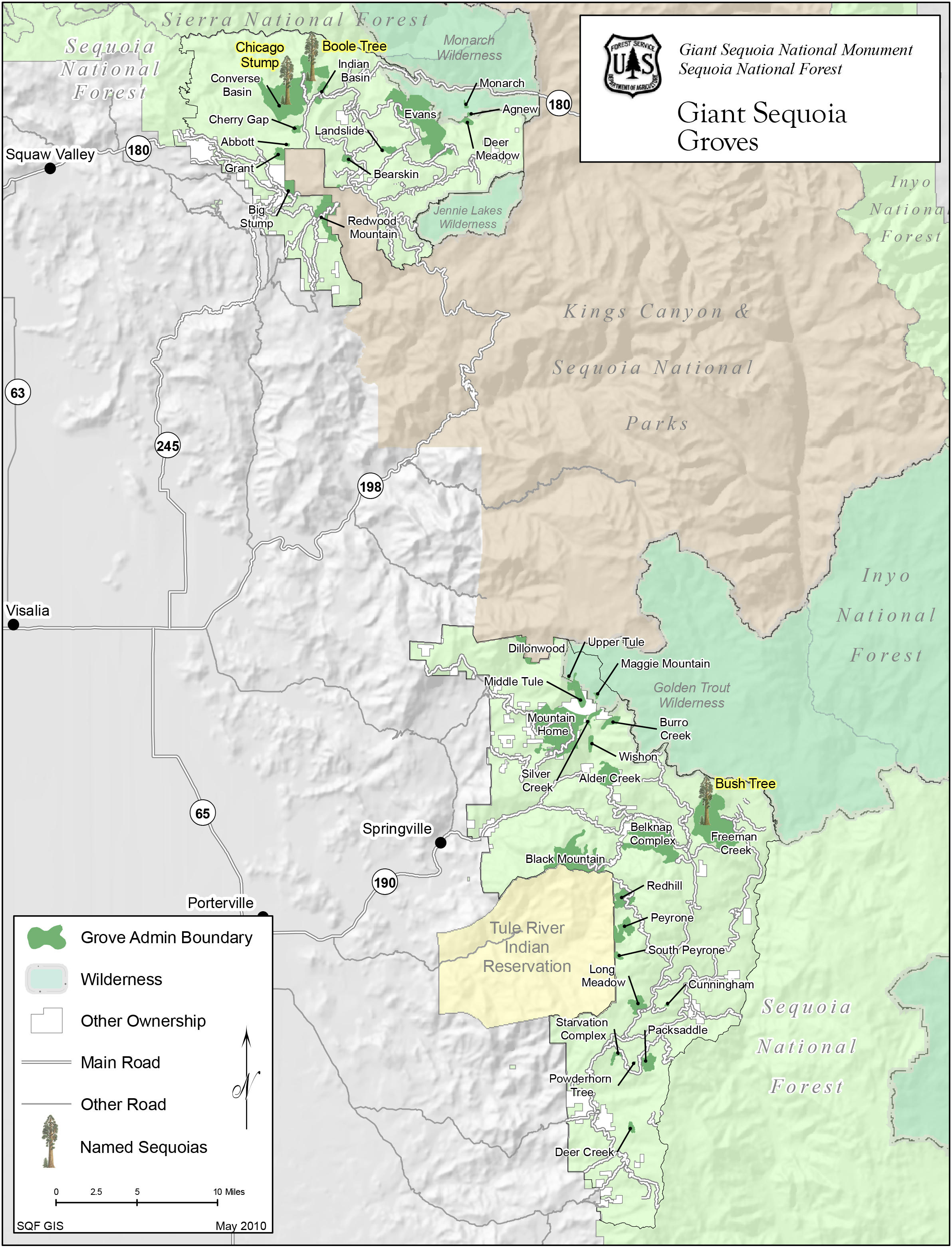 sequoia national forest map pdf
