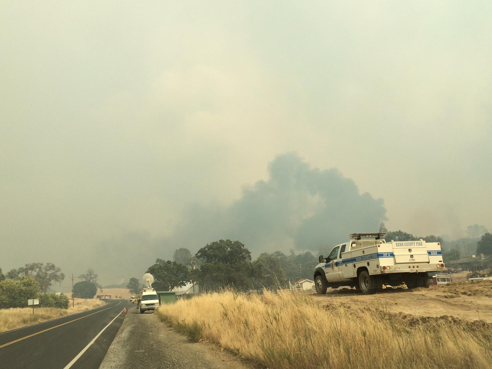 Evacuation order lifted for town threatened by fire