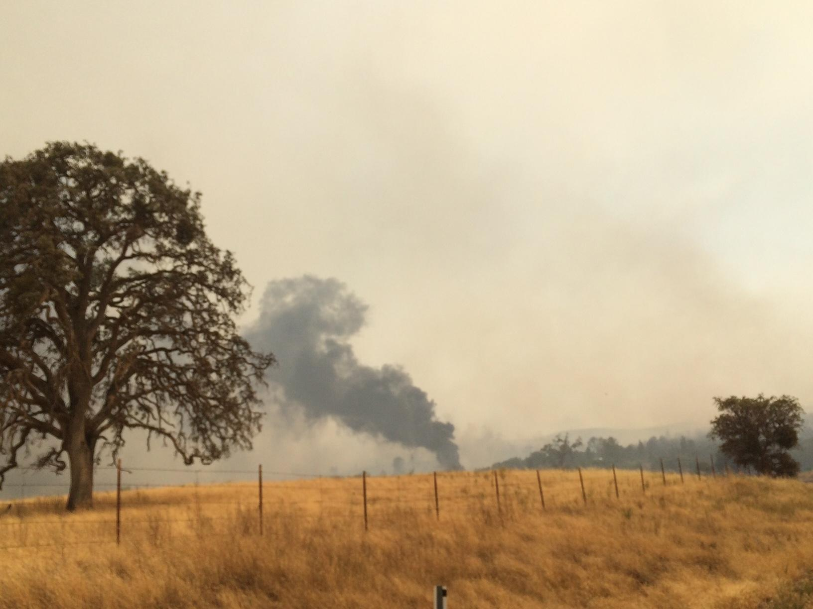 Detwiler Fire causes decline in air quality