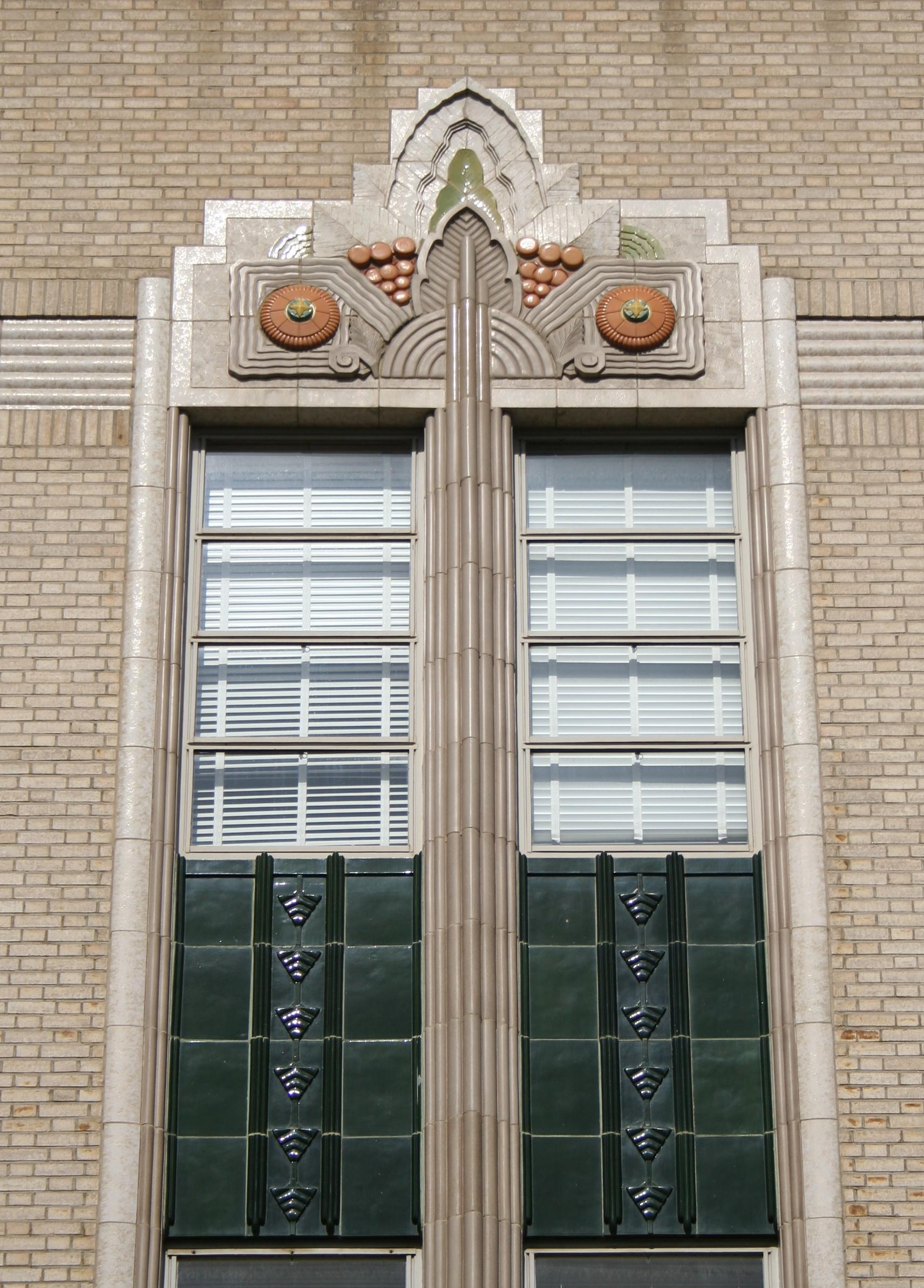 Photos art deco architecture in the san joaquin valley for Art deco architectural details