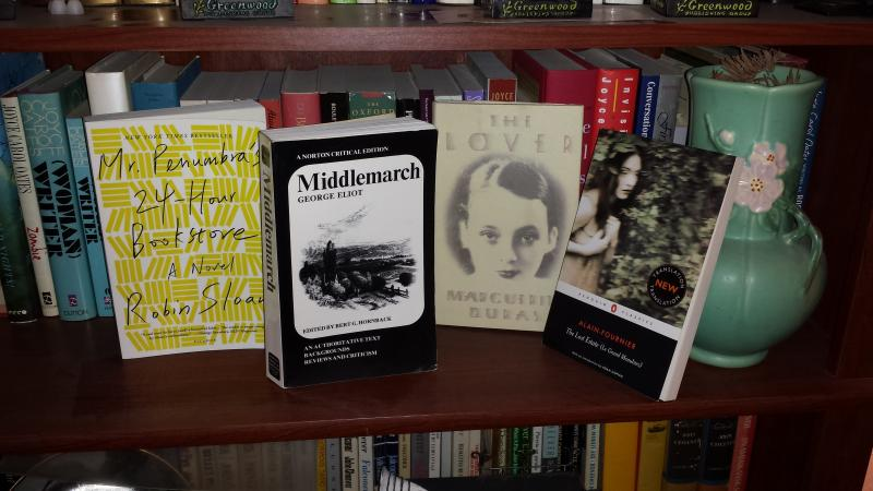 April's Likely Stories: Middlemarch, The Lover, Mr Penumbra's 24-Hour Book Store, and The Lost Estate