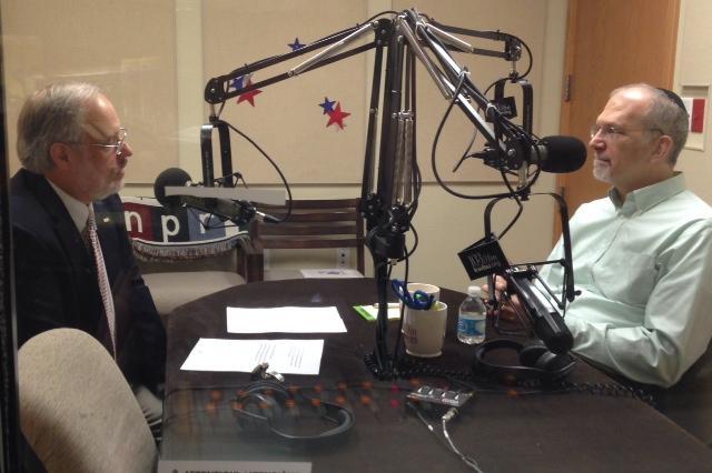 Joe Riley interviewing Rabbi Gorden Fuller