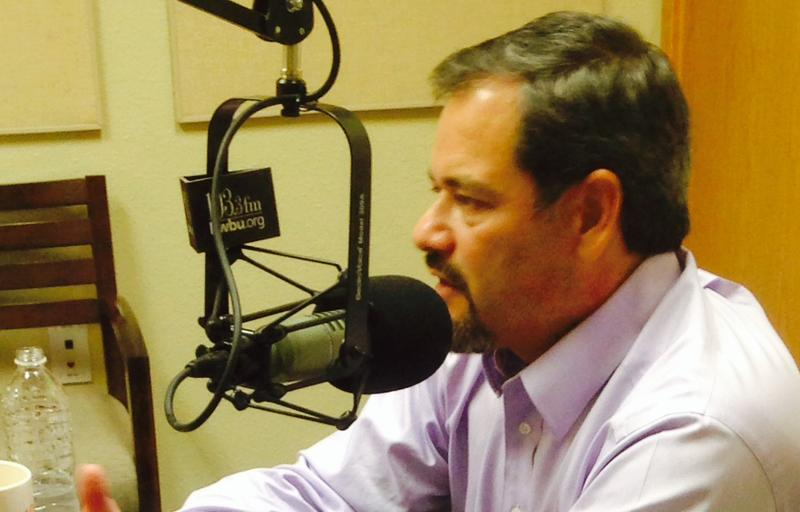 Alfred Solano in the KWBU studio June 25th for a taping of the Central Texas Leadership Series.