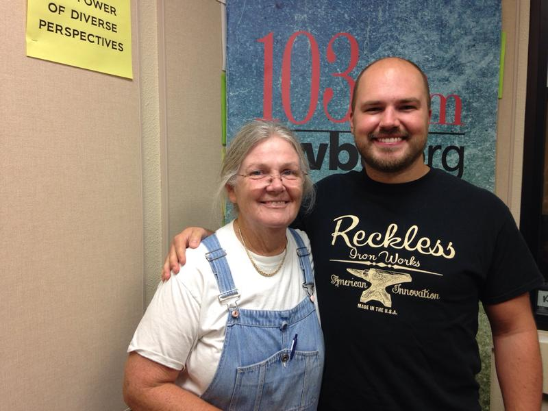 Nancy Grayson, owner of Lula Jane's, with host Austin Meek.