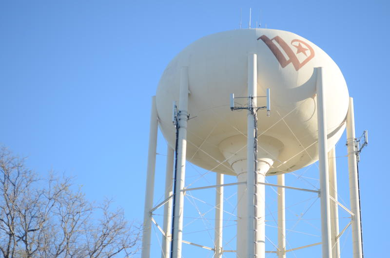 The 'Flying W' as it appears on one of the city's water towers