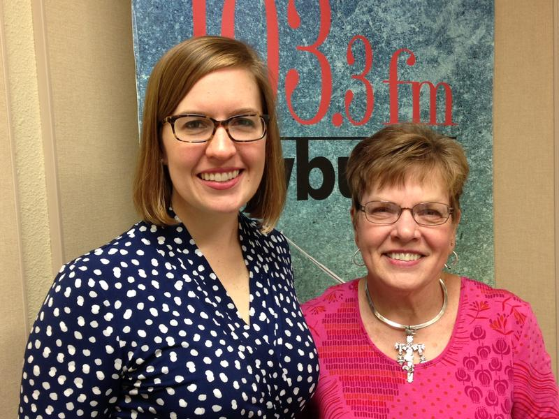 Anna Futral (l) and Nan Holmes (r) in the KWBU studio