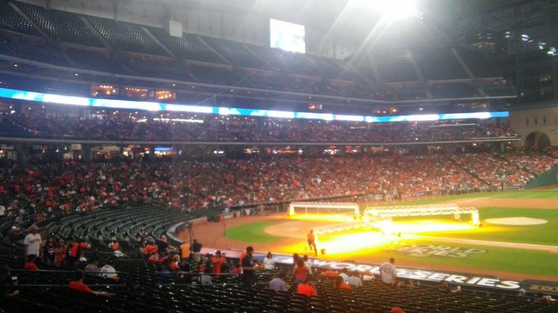 Astros fans gathered in the team's home stadium, Minute Maid Park for a giant World Series watch party.