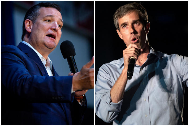 Sen. Ted Cruz (left) and Rep. Beto O'Rourke.
