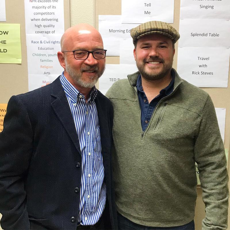 Dr. Greg Leman with Austin Meek in the KWBU Studio