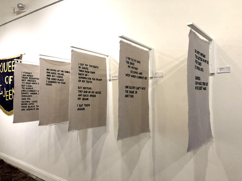 Mammoth Collective is a new group of young female artists in Waco. This poetry on canvas was created by group member Rae Jefferson.