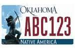 An Oklahoma license plate