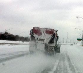 A Tulsa salt truck