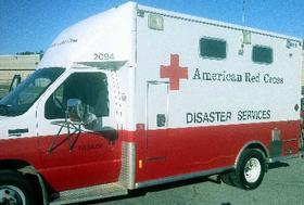 Red Cross disaster van.