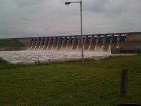 Keystone Dam west of Tulsa