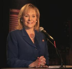 Governor Fallin speaking in Tulsa