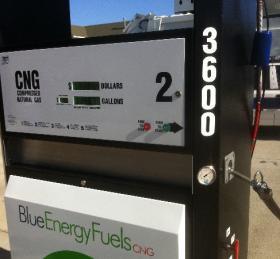 A CNG pump in Owasso