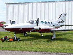 The plane that crashed is similar in design to this file photo of a Cessna 421.