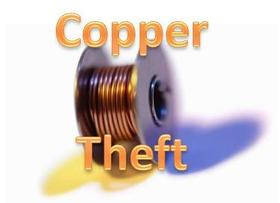 Tulsa County loses some copper tubing that services condensers  cooling computers to theft.