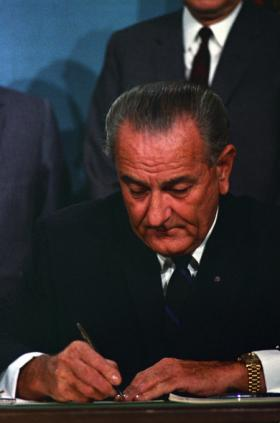 LBJ signs the Public Broadcasting Act of 1967