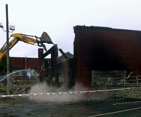 The building site was demolished earlier this fall