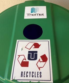 A MET recycle bin on the TU campus