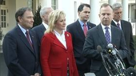 Oklahoma Governor Mary Fallin and five other governors met with the President this morning.