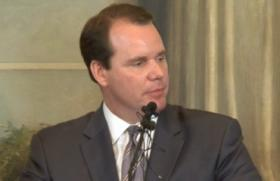 Lt-Governor Todd Lamb from yesterday's news conference.