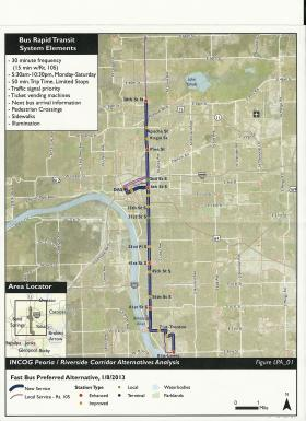 The current plan involves adding a Bus Rapid Transit service to the existing 105 route.