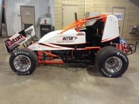 One of the cars that will be racing this week in Tulsa.