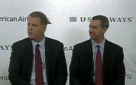 Doug Parker of US Airways and Thomas Horton of American answer questions about the merger.