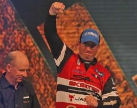 Cliff Pace, sets the pace, with 21lbs and 8 oz of bass on day one of the Bassmaster