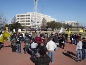 Oklahoma Defense Force rallies for gun rights at the state capitol