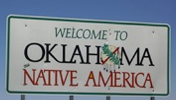 Entrance sign along Oklahoma border